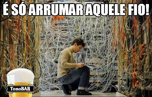 misso impossvel fios fcil dificil data center baguna  destaque  Parece difcil, mas  bem simples viu....