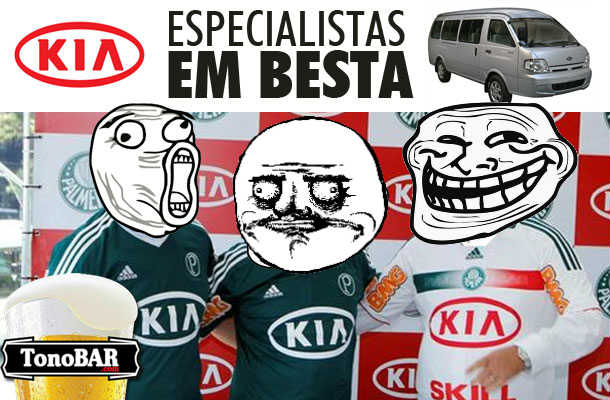tirone tirinha palmeiras meme kia humor felipo especialista camisa besta  futebol 2  Kia, especialista em Besta, fecha patrocnio com o Palmeiras!